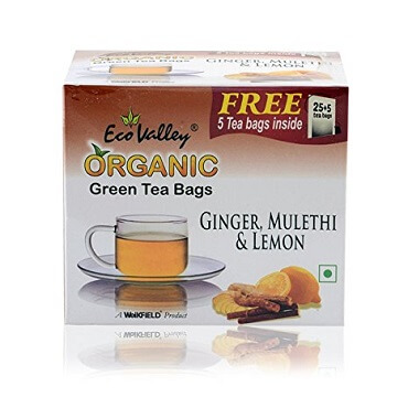 Eco Valley Ginger, Mulethi, Lemon Tea Bags
