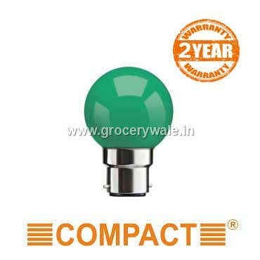 Compact LED Deco Bulb-0.5 W (Green, B22)